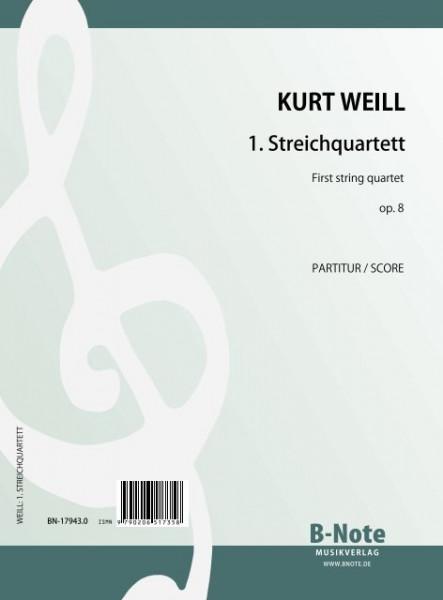 Weill: 1. Streichquartett op.8 (Partitur)