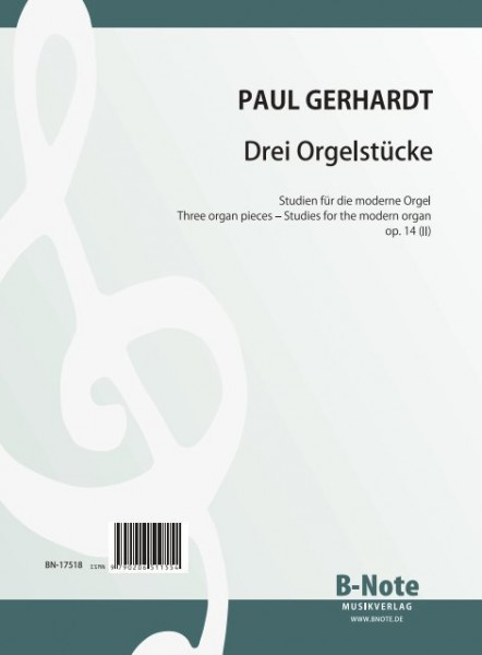 Gerhardt: Three organ pieces – Studies for modern organ op.14