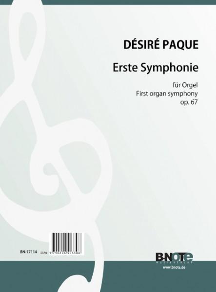 Paque: 1re Symphonie pour orgue op.67