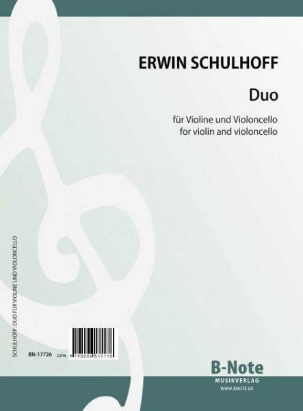 Schulhoff: Duo für Violine und Violoncello