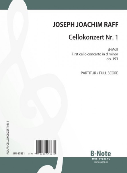 Raff: First cello concerto in d minor op.193 (full score)