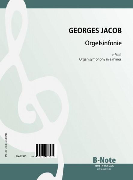 Jacob: Symphonie pour orgue en mi mineur