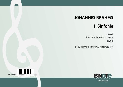 Brahms: Sinfonie Nr. 1 c-Moll op.68 (Arr. Klavier 4hd)