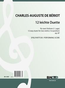 Bériot: 12 leichte Duette für zwei Violinen (1. Lage) op.87