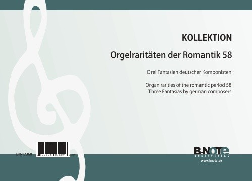 Diverse: Organ rarities of the romantic period 58: Three fantasias by german composers