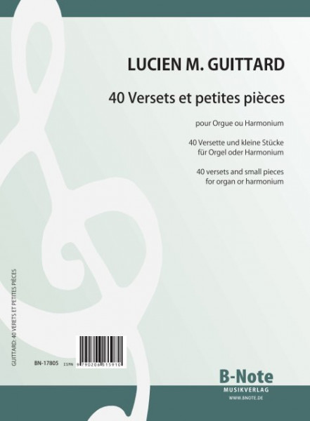Guittard: 40 easy versets and small pieces for organ or harmonium