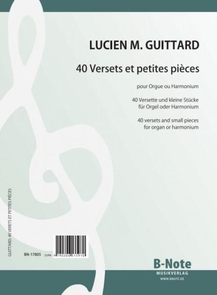 Guittard: 40 versets et petites pièces pour orgue ou harmonium