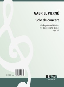 Pierné: Solo de Concert for bassoon and piano op.35