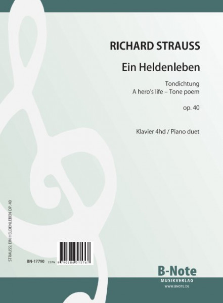 Strauss: La vie d'un héros op.40 (Arr. piano 4ms)
