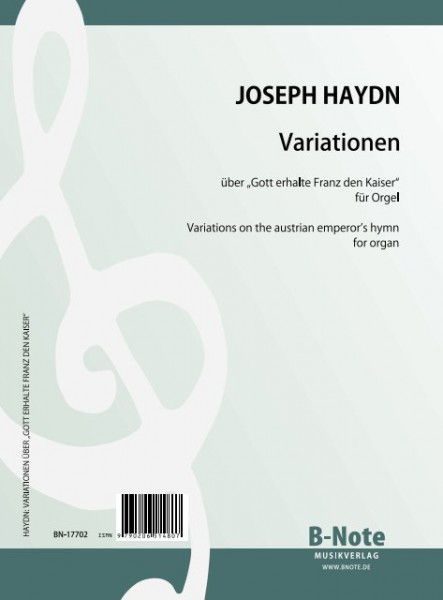 Haydn: Variations on the austrian emperor's hymn (german national anthem) (Arr. organ)