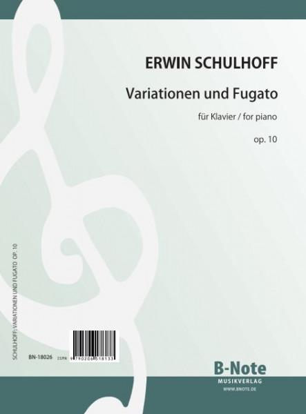 Schulhoff: Variationen und Fugato über ein eigenes Thema für Klavier op.10