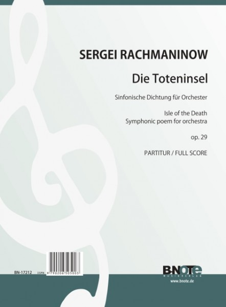 Rachmaninow: Isle of the death. Symphonic poem for orchestra op.29 (Full score)