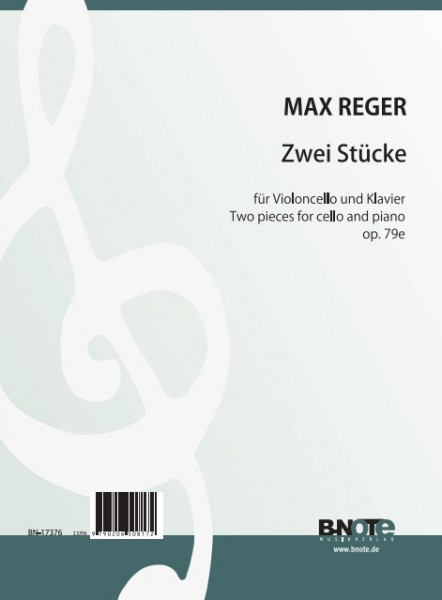 Reger: Two pieces for cello and piano op.79e