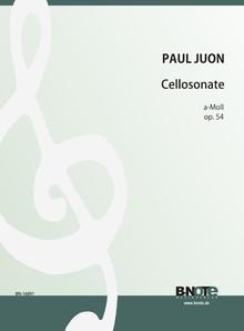 Juon: Sonate pour violoncelle et piano en la mineur op.54