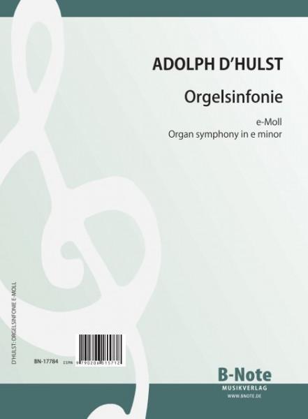 d'Hulst: Organ symphony in e minor