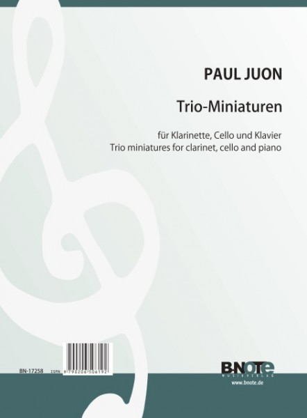 Juon: Four trio miniatures for clarinet, violoncello and piano