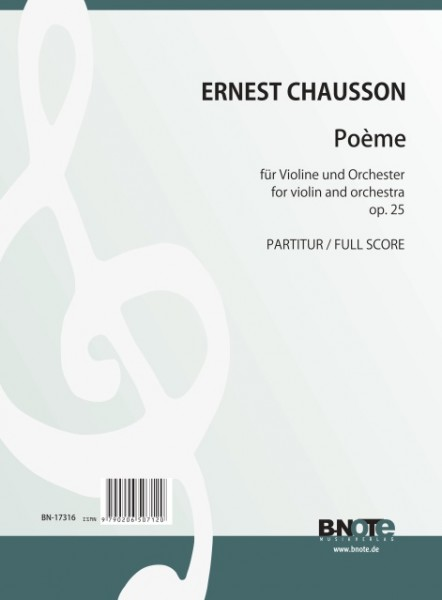 Chausson: Poème for violin and orchestra op.25 (full score)