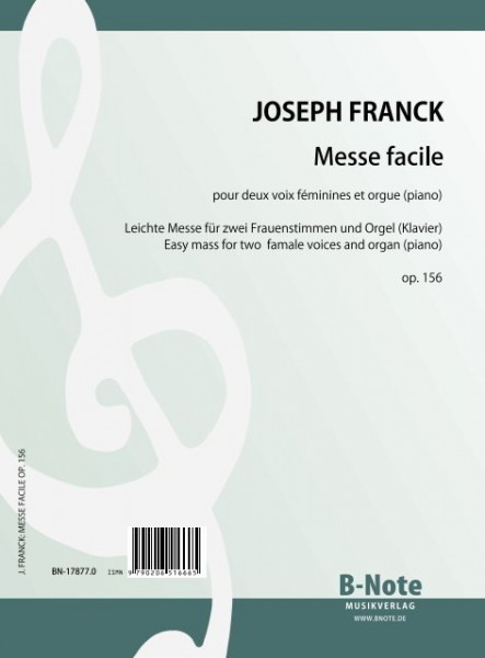 Franck: Easy mass for two female voices and organ (piano) op. 156