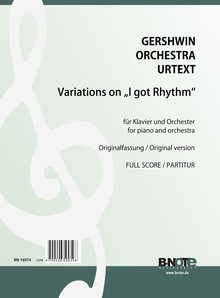 Gershwin: Variations sur 'I got Rhythm' pour piano et orchestre (version originale( (partition)