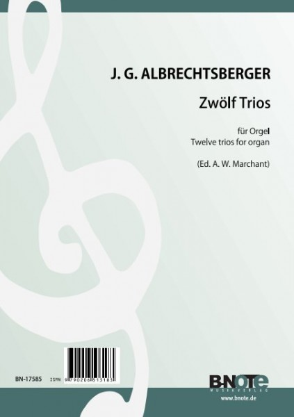 Albrechtsberger: 12 trios for organ