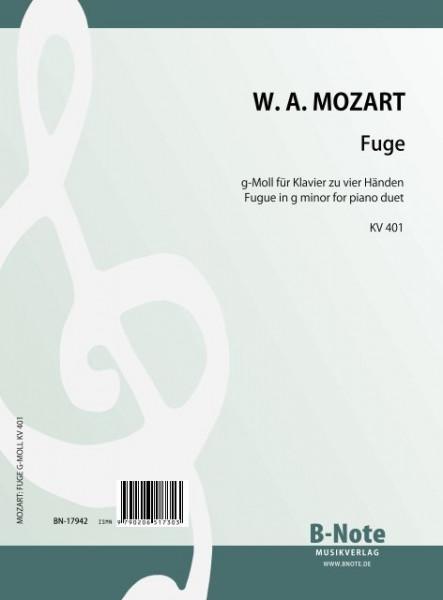 Mozart: Fuge g-Moll für Klavier zu vier Händen KV 401