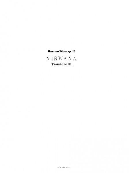 Bülow: Nirwana – Overture pour orchestre op.20 (parties)