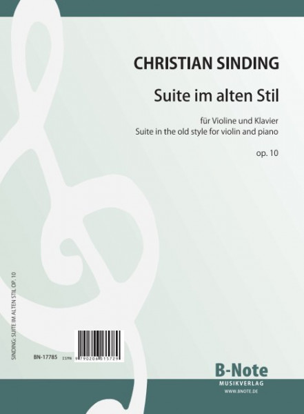 Sinding: Suite in the old style for violin and piano op.10