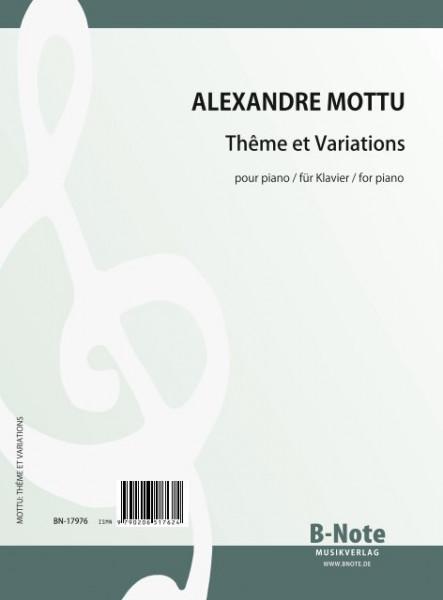 Mottu: Thema mit Variationen für Klavier