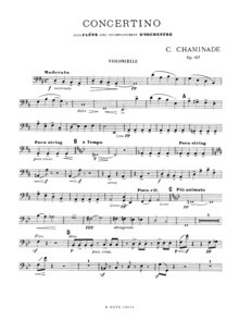 Chaminade: Concertino for flute and orchestra op.107 (set of parts)