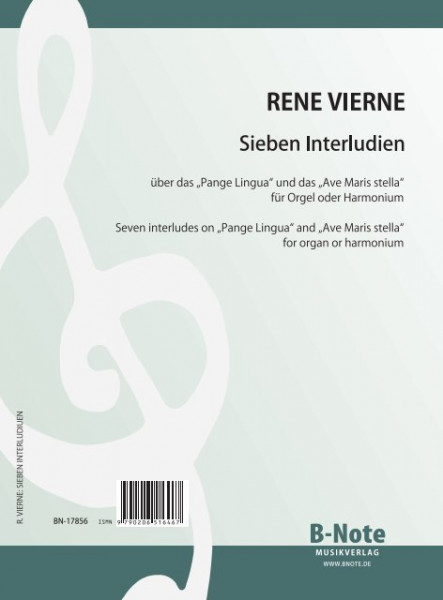 Vierne: Seven interludes for organ or harmonium