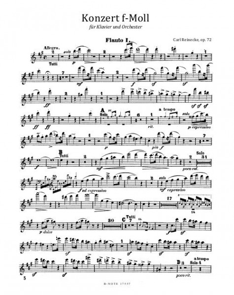Reinecke: First piano concerto in f minor op.72 (parts)