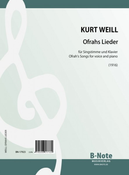 Weill: Ofrah's Songs for voice and piano
