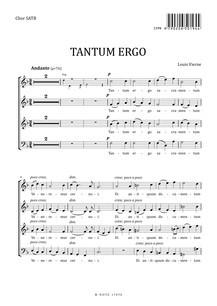 Vierne: Tantum ergo für Chor SATB und Orgel (Chorpartitur)