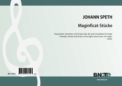 Speth: Eight Magnificat suites for organ