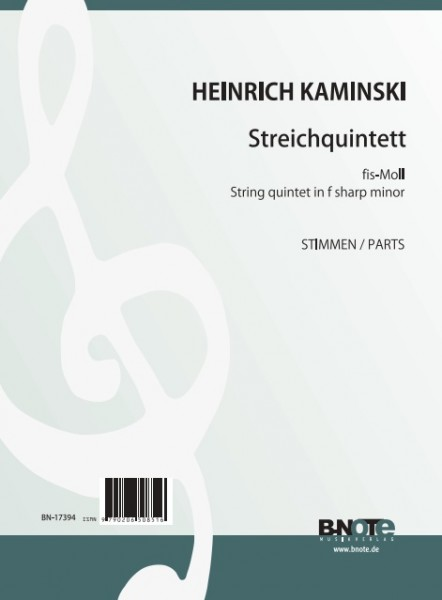 Kaminski: String quintet in f sharp minor (parts)