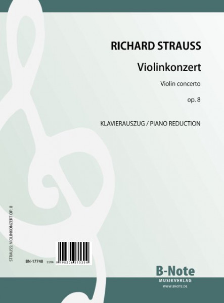 Strauss: Violin concerto op.8 (piano reduction)