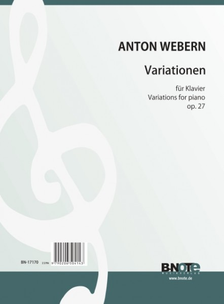 Webern: Variations pour piano op.27