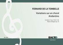 Tombelle: Variations sur un choral und Andantino für Orgel (Livre 3 der Pieces d'orgue op.33)