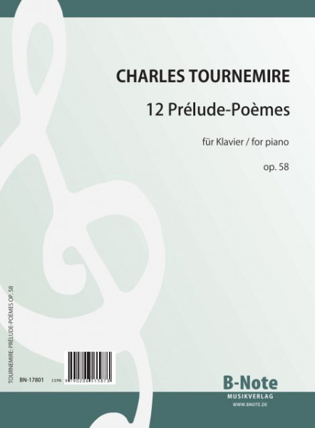 Tournemire: Préludes-Poèmes pour piano op.58