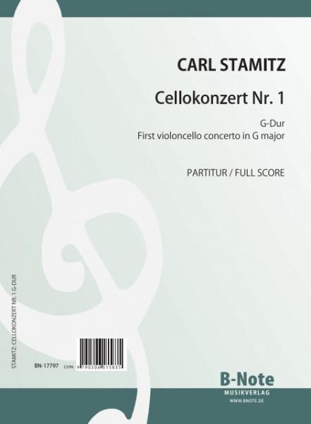 Stamitz: Konzert Nr. 1 G-Dur für Violoncello und Orchester (Partitur/Stimmen)