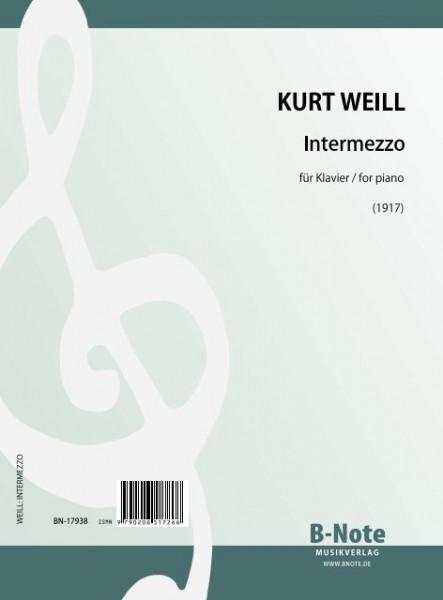 Weill: Intermezzo für Klavier (1917)