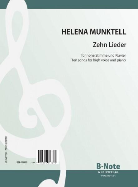 Munktell: Dix elodies poir voix elevées et piano