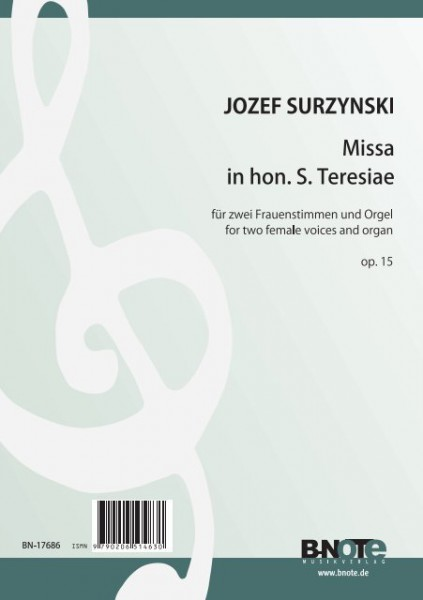 Surzynski: Missa in hon. S. Teresiae for two female voices and organ op.15