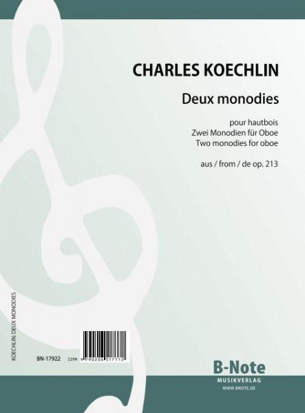 Koechlin: Zwei Monodien für Oboe aus op.213