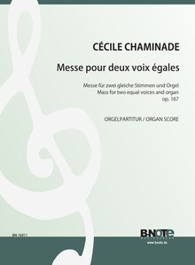 Chaminade: Mass for two female voices and organ (harmonium) op.167 (score)
