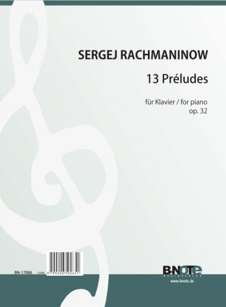 Rachmaninow: 13 preludes for piano op.32