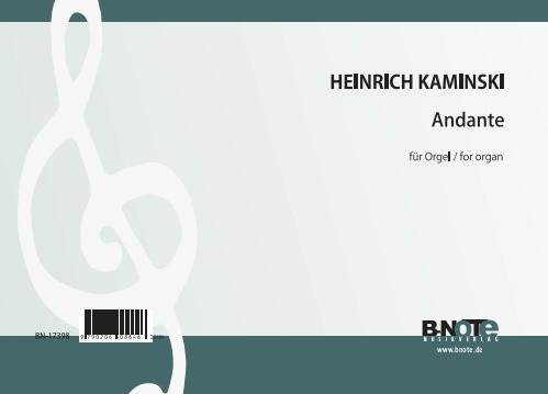 Kaminski: Andante in e flat minor for organ