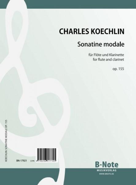 Koechlin: Sonatine modale für Flöte und Klarinette op.155