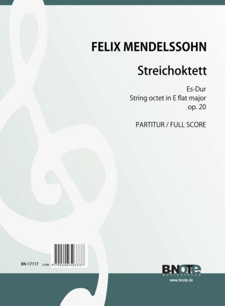 Mendelssohn Bartholdy: String octet in e flat major op.20 (Full score)