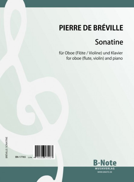 Bréville: Sonatina for oboe (or flute or violin) and piano